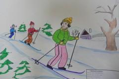 Масянова Татьяна. Весёлый лыжник